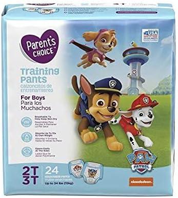 Paw Patrol Training Pants for Boys (2T/3T) Lt Blue/White