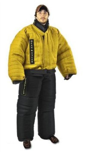 Dean and Tyler Full Protection Bite Suit, Strong French Linen - Yellow/Black - Size: Medium (H: 5.10 to 6.2-Feet, W: 174 to 187-Pounds)