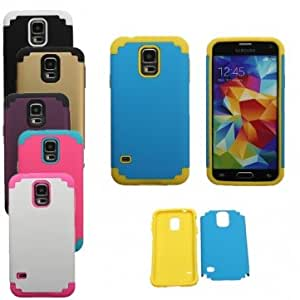 Hybrid TPU+PC Shockproof Case Cover For Samsung Galaxy S5 i9600 @ Color==White