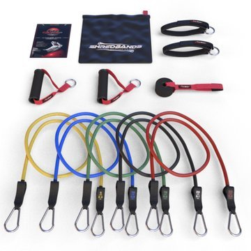 Resistance Bands - 11pc Set - With Door Anchor & Ankle Strap for Legs Workout & Carry Case - Heavy Duty Anti-Snap Technology - Bonus 20 Fat Burning Workouts Ebook