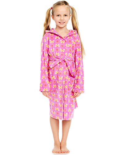 Leveret Fleece Sleep Robe Butterfly 8 Years