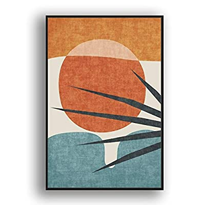 Framed Canvas Wall Art Abstract for Living Room, Bedroom Color Block Canvas Prints for Modern Home Decoration Ready to Hang - 16