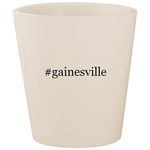 #gainesville - White Hashtag Ceramic 1.5oz Shot -
