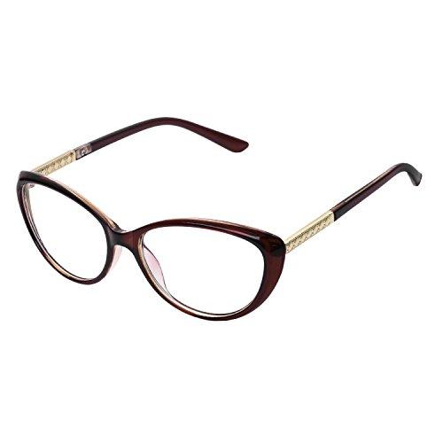 Forepin® Lunettes de Vue Vintage pour Femme et Homme Verre Transparent  Cadre Frame Lentille Claire 6f89dd588749