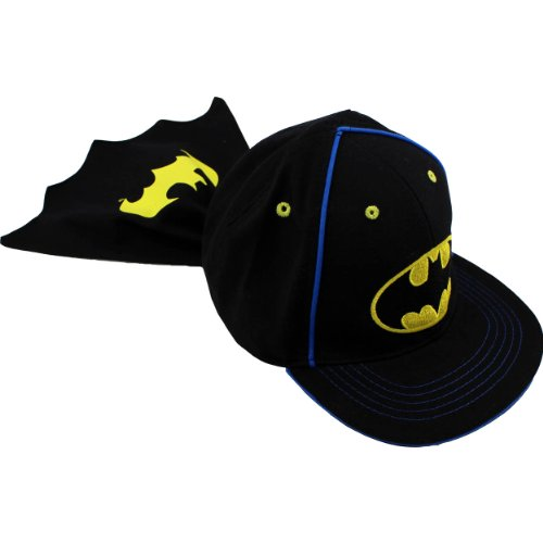 [Batman Baby Toddler Caped Baseball Hat Cap BTS41869ST (12M-3T)] (Baseball Bat Man Costume)