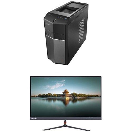 Bundle: Lenovo Ideacentre 710 Desktops (Intel Core i7, 8 GB RAM, 1TB HDD + 128 GB SSD, Windows 10) 90FB000CUS + Lenovo 23-Inch FHD LED-Lit 16:9 Widescreen Monitor (65C8KCC1US)