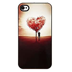 Babe Supply Tree of Love Shaped Pattern Plastic Hard Case Cover for iPhone 4/4S