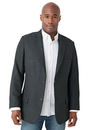 Liberty Blues Men's Big & Tall Casual Blazer, Charcoal Tall-62 Big Tall Blazer
