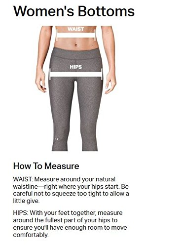 Under Armour Womens HeatGear Armour Legging, Black /Metallic Silver, Large by Under Armour (Image #3)