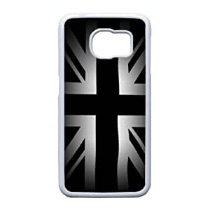 Union Jack Flag_004 TPU Case Cover for Samsung Galaxy S6 Edge Cell Phone Case White