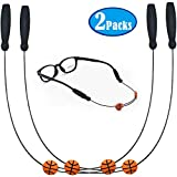 2 Packs Glasses Straps Adjustable Eyewear Retainer - No Tail Sunglasses Strap - Eyeglass String Holder Sports Glasses Retainer Temple Tips for Adults Teenagers (Long ++ 16 inches)