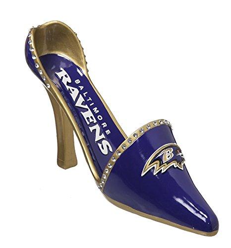 Team Sports America NFL Baltimore Ravens Heel Wine Bottle Holder, Small, Multicolor