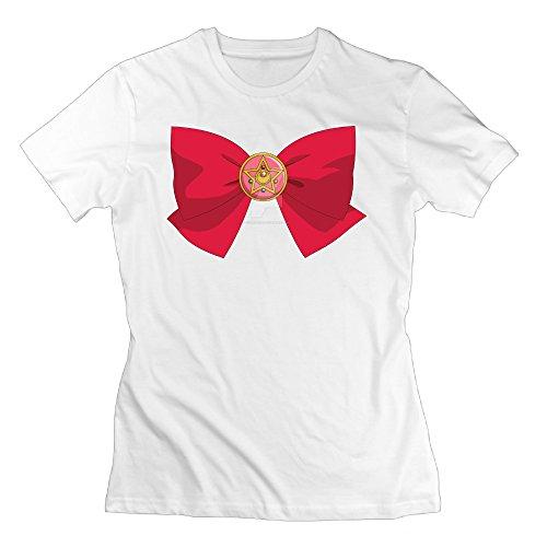 [2016 Newest Sailor Moon Cotton T Shirt 100 Cotton For Female] (Sailor Moon Sailor Jupiter Wig Adult)
