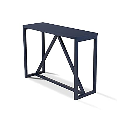 "Kate and Laurel Kaya Wood Console Table, 42"" x 14"" x 30"", Navy Blue - Decorative modern console table brings a stylish statement to your home entryway or living room Bring glamour and sophistication into your home with this modern minimalist design console table Constructed from solid and manufactured wood with a painted satin finish for lasting durability - living-room-furniture, living-room, console-tables - 41rWyRPKxfL. SS400  -"