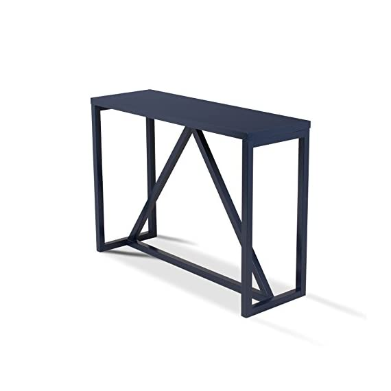 """Kate and Laurel 210050 Kaya Wood Console Table, 42"""" x 14"""" x 30"""", Navy Blue - Decorative modern console table brings a stylish statement to your home entryway or living room Bring glamour and sophistication into your home with this modern minimalist design console table Constructed from solid and manufactured wood with a painted satin finish for lasting durability - living-room-furniture, living-room, console-tables - 41rWyRPKxfL. SS570  -"""