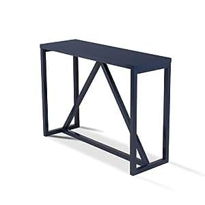kate and laurel kaya wood console table navy blue kitchen dining. Black Bedroom Furniture Sets. Home Design Ideas