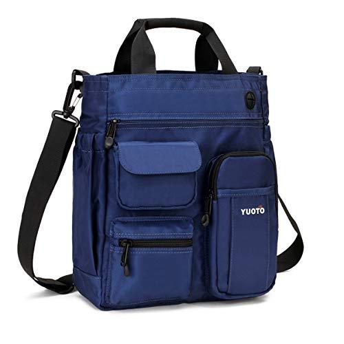 Small Shoulder Bag Multiple Pocket Messenger Bag Travel Working Crossbody Bag blue