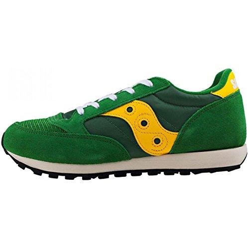 Saucony Jazz Original Vintage Kind Sneakers Grün Gelb
