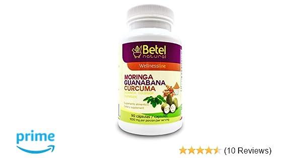 amazon com moringa guanabana and curcuma 90 capsules betel rh amazon com