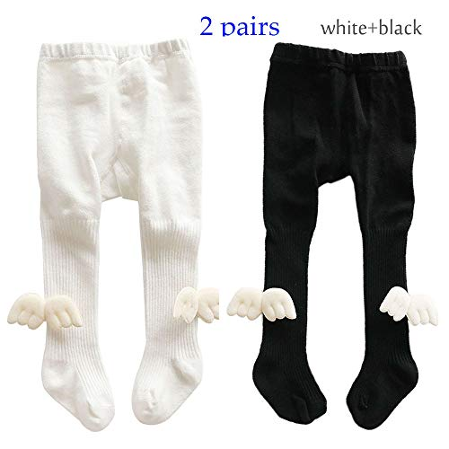 - Kids Girls Seamless Tights Knit Cotton Leggings Wings Pants 3-Pack Stockings