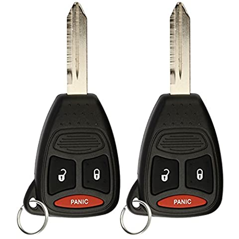 KeylessOption Keyless Entry Remote Control Blank Uncut Car Key Fob Replacement for KOBDT04A (Pack of (2010 Jeep Wrangler Key Fob)