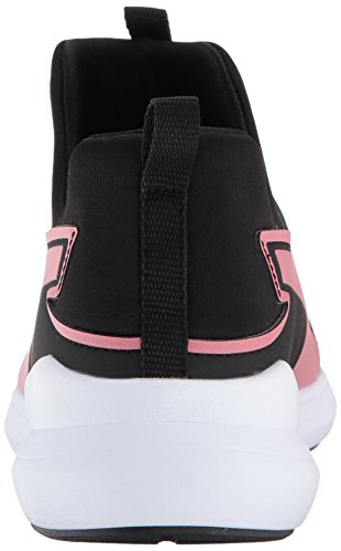 PUMA Unisex-Kids Rebel Mid Gleam Sneaker, Black-Rapture Rose, 10.5 M US Little Kid