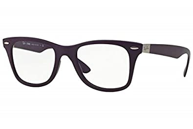 a9abab70a4 Image Unavailable. Image not available for. Color  Ray Ban RX7034 5443  Violet Liteforce Frame 50 mm Optical Lens Eyeglasses New