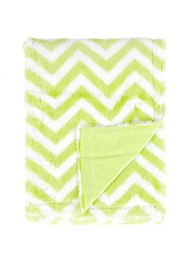 (Tadpoles Sleeping Partners Chevron Print Blanket, Green/White)