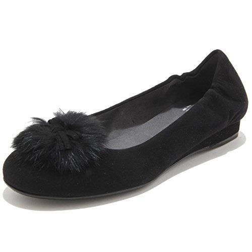 51144 ballerina STUART WEITZMAN FURBALL scarpa donna shoes women Nero