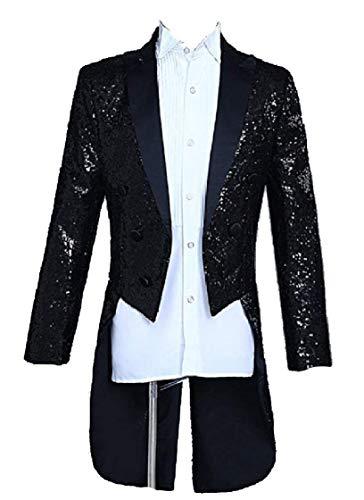 De Mariage Costume Des Pour Veste Blazer Schwarz Slim Homme Tuxedo Vêtements Fit Bouton Soirée Imprimé 1 PqwYXw1