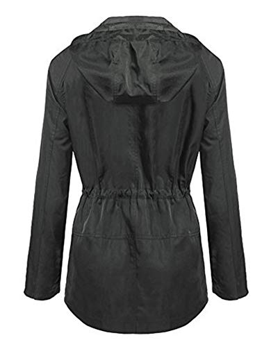 Antipioggia Rainwear Coats Donna Giacche Leggero Rain Thin Grigio Quge Windbreaker Impermeabili wX6xqHx8z