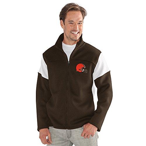 G-III Sports by Carl Banks Adult Men Halftime Full Zip Jacket, Brown, Medium ()