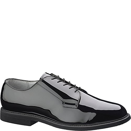 Bates Men's High Gloss Leather Sole Work Shoe,Black,11 D US (Bates High Gloss Leather)