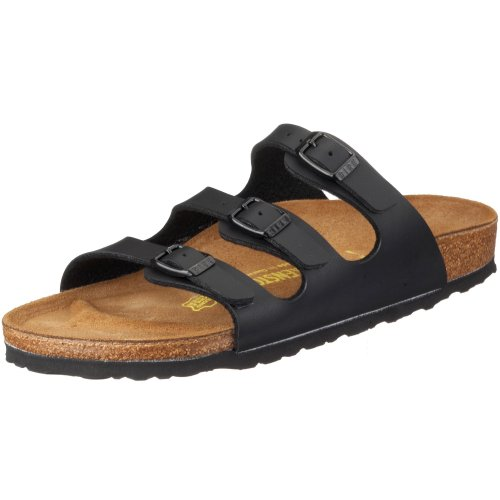 Birkenstock Womens Florida Soft Footbed Birko-Flor  Black Sandals - 36 Narrow EU ROqYaum8