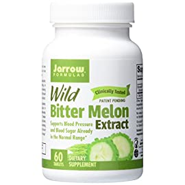 Jarrow Formulas Wild Bitter Melon Extract, Supports Blood Pressure and Blood Sugar Already in The Normal Range, 60 Tabs 5 Clinically Tested Patent Pending Supports Blood Pressure and Blood Sugar Already in the Normal Range*