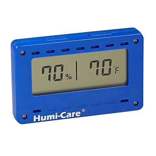 HUMI-CARE Rectangle Digital Hygrometer - Blue