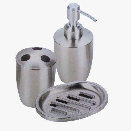 set accessori bagno dispenser/portasapone liquido/porta saponetta ... - Arredo Bagno In Acciaio Inox
