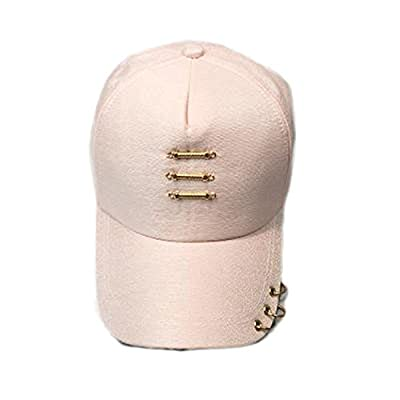 Iron Ring Cap Women Baseball Cap with Rings Gold Color Snapback Hip Hop Hats for Women Men Dad Hat Kpop