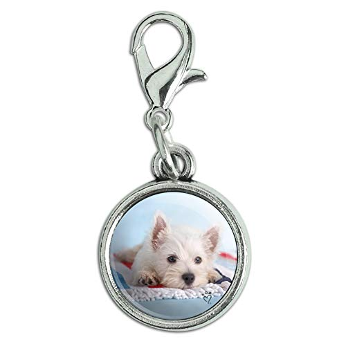GRAPHICS & MORE West Highland Terrier Westie Puppy Dog Beach Towel Antiqued Bracelet Pendant Zipper Pull Charm with Lobster Clasp