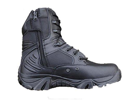 WZG botas de bota botas de combate de los hombres para la formación de los cargadores tácticos militares botas de desierto tácticos de camping botas de montaña Black