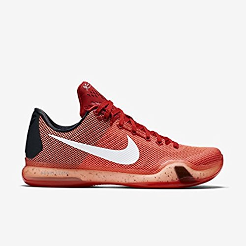 Nike Kobe X (University Red/White-Bright Crimson) Basketball Shoes (705317 616) (8.5, University Red/White-Bright Crimson)