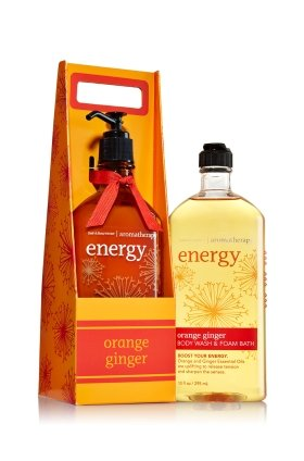 Bath and Body Works Aromatherapy Orange Ginger Gift Set Includes Orange Ginger Energy Body Lotion and Body ()