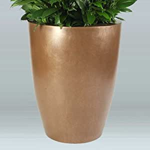 "Raleigh Round Pot Planter Color: Charcoal, Size: 10"" H x 12"" W x 12"" D"