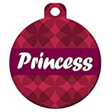 """Cute Dog Pet ID Tag - """"Pattern Tag with Name Plate"""" - Personalize Colors And Your Pet Info"""