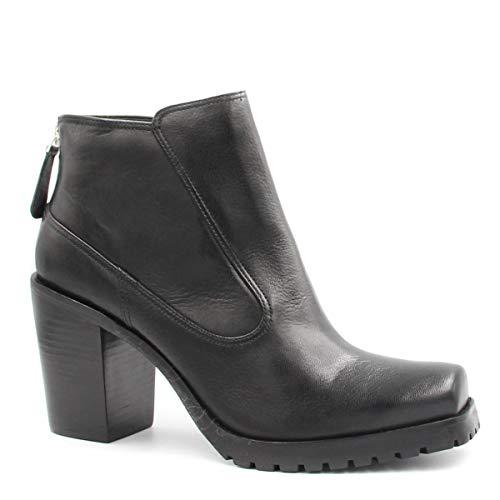 Bota Cano Curto Zariff Shoes Coturno Zíper