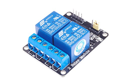 SMAKN 5V Active Low 2 Channel Relay Shield Module for Arduino UNO 2560 1280 ARM PIC AVR STM32 Raspberry Pi