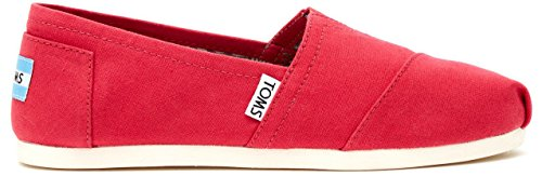 TOMS Classic Barberry Pink Womens Canvas Espadrilles Shoes Slipons