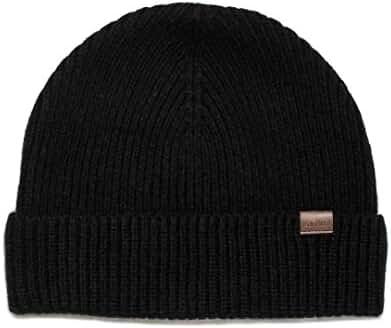 Rich Cotton Wool Beanie Hat 100% Merino Wool (Black)