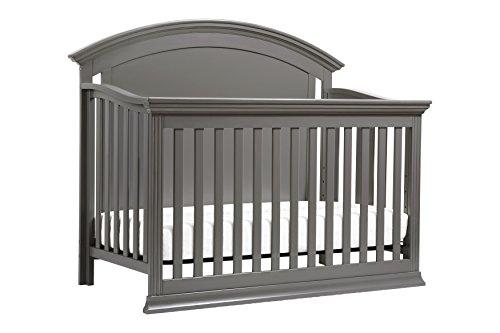 Million Dollar Baby Classic Wembley 4-in-1 Convertible Crib,  Manor Grey by Million Dollar Baby Classic
