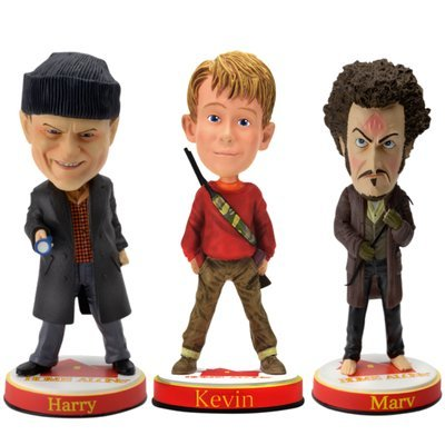 Home Alone Kevin, Harry and Marv Limited Edition Movie Bobblehead Set - Limited to Only 5,000/3,000 - Macaulay Culkin, Daniel Stern and Joe Pesci